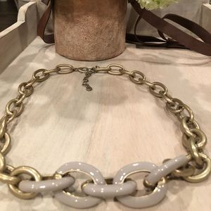 LOFT Gold & Gray Chain Necklace